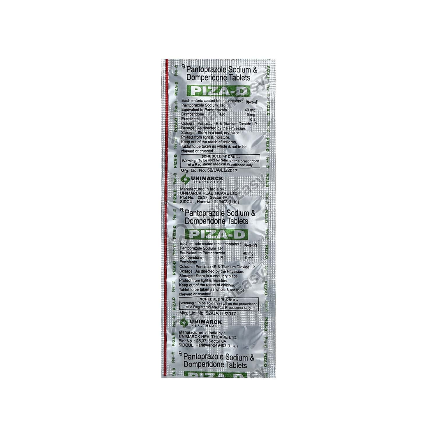 Piza D Strip Of 10 Tablets