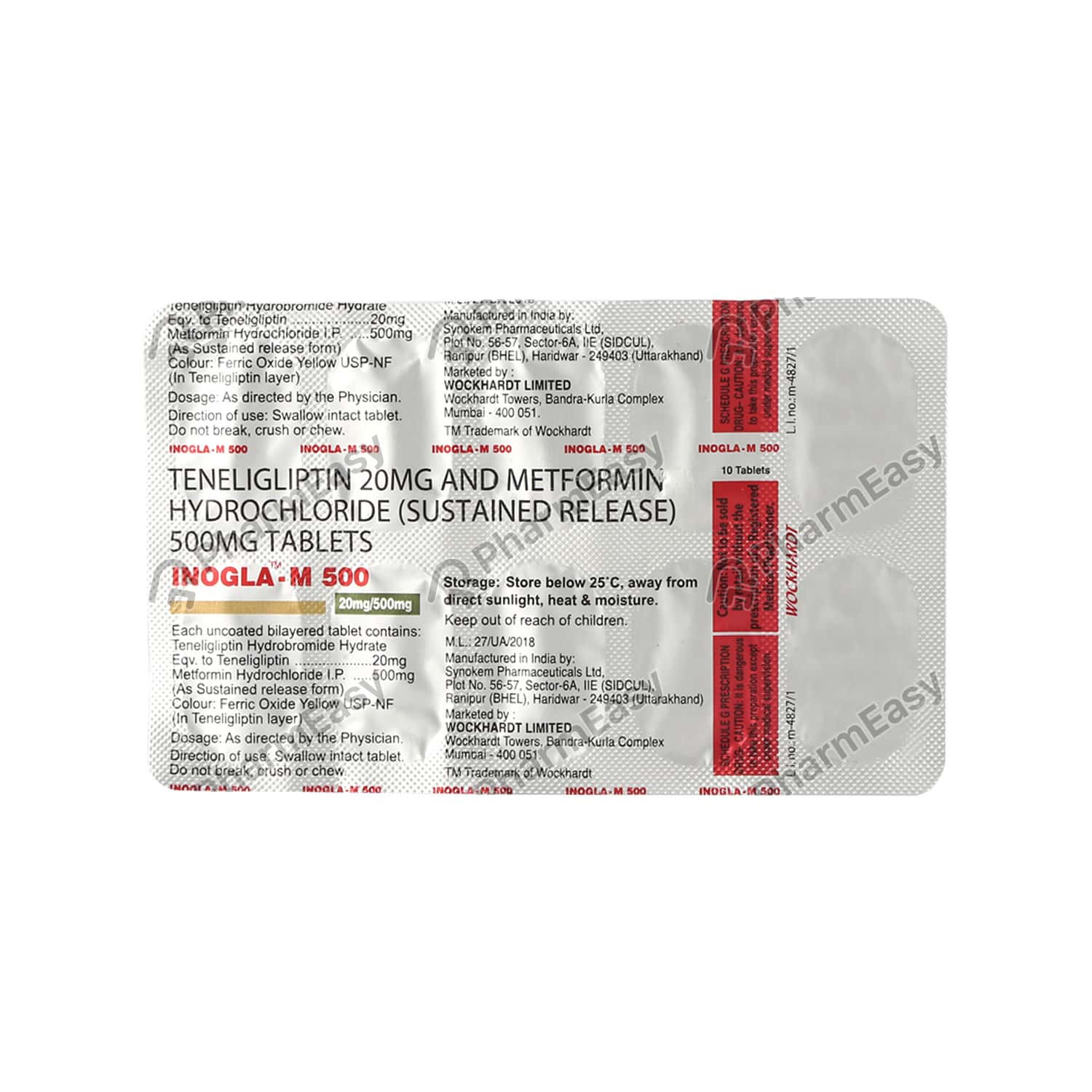 Inogla M 500mg Strip Of 10 Tablets