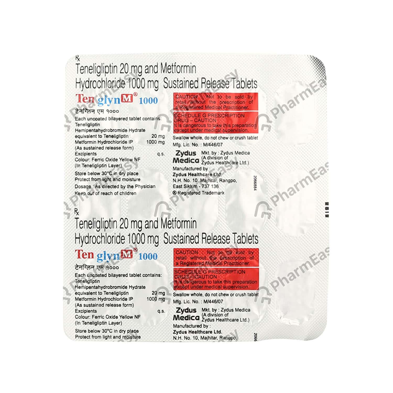 Tenglyn M 1000mg Strip Of 15 Tablets