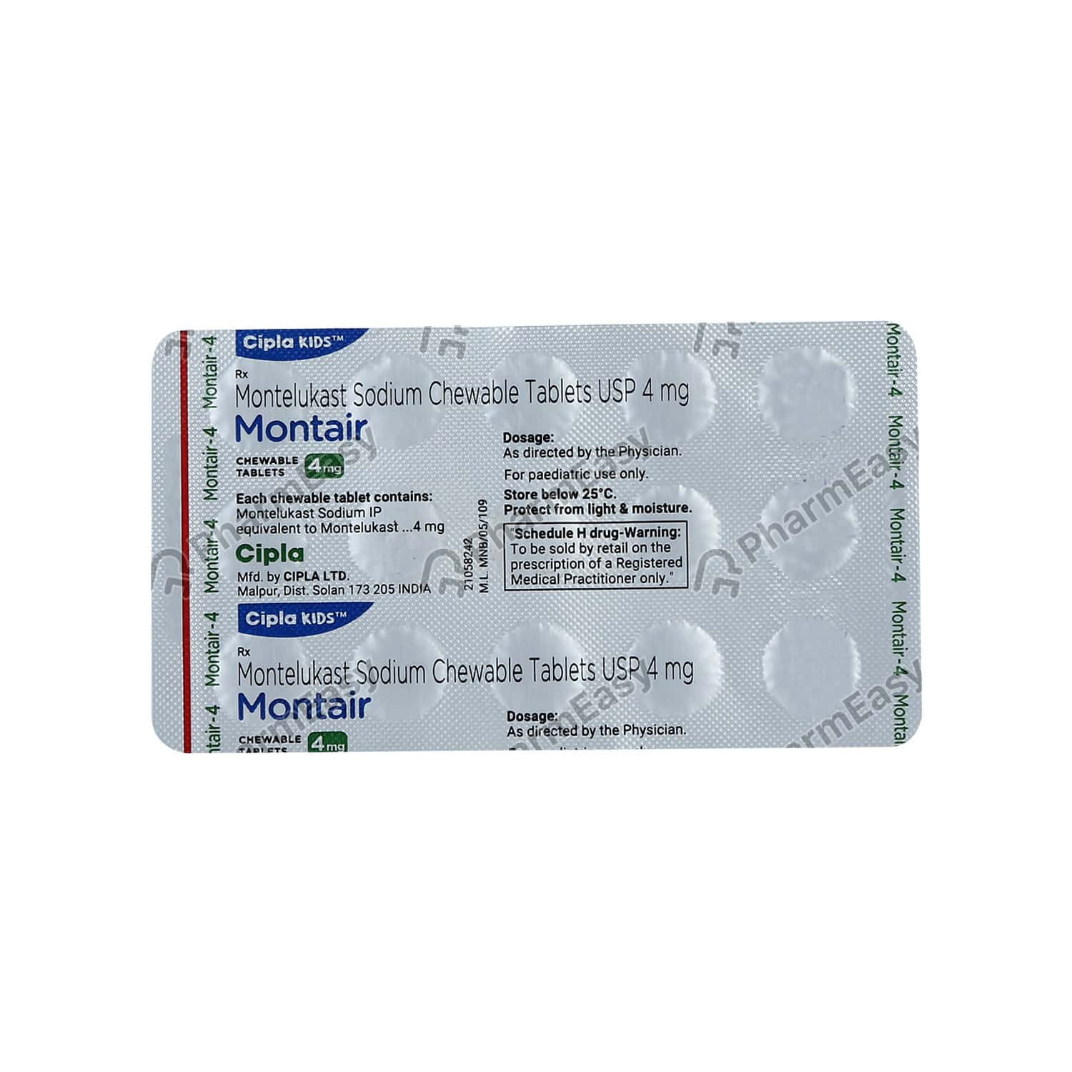 Montair 4mg Strip Of 15 Tablets