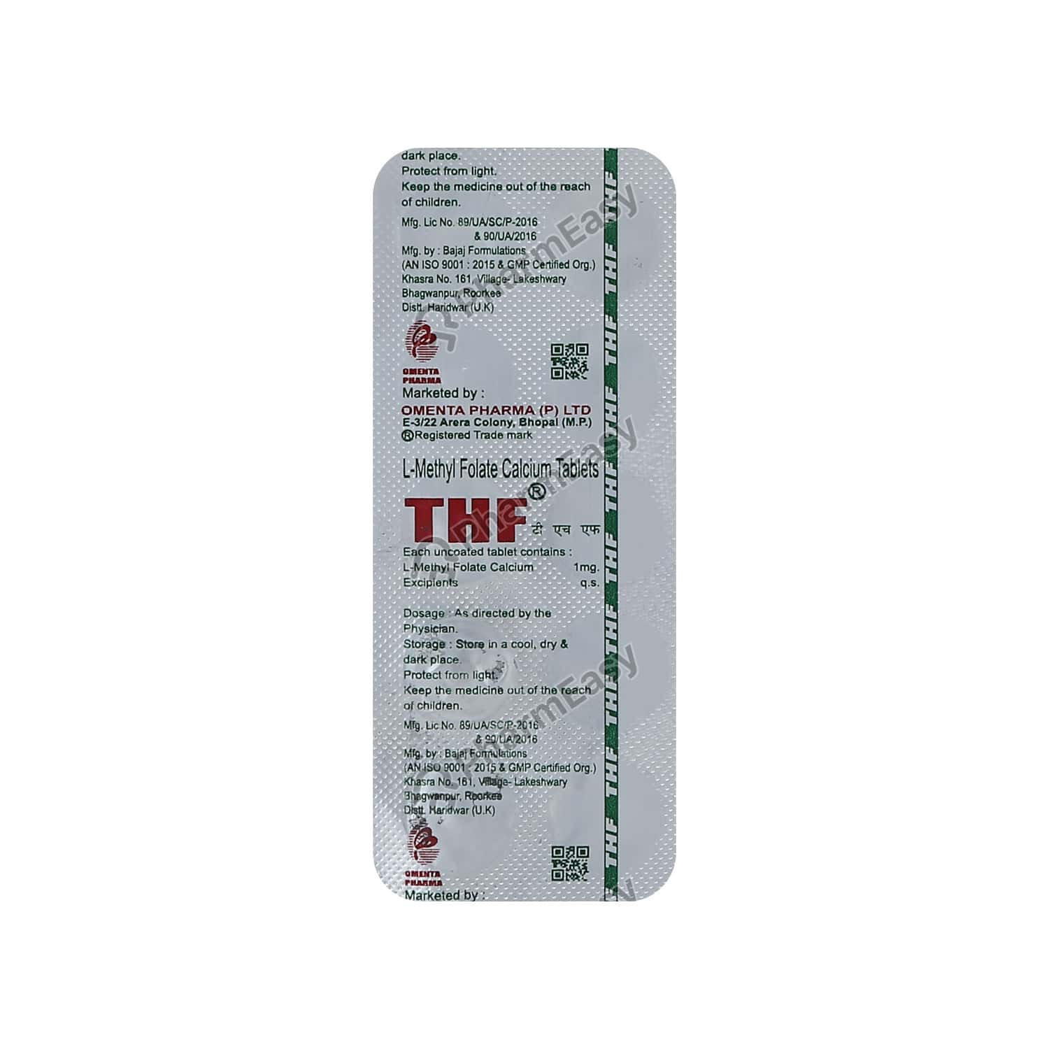 Thf Strip Of 10 Tablets