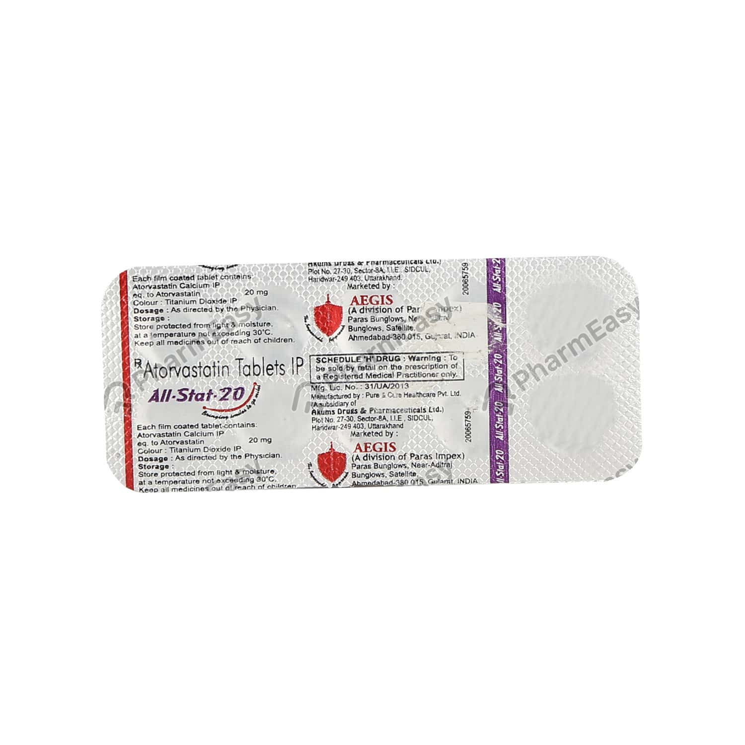 All Stat 20 Strip Of 10 Tablets
