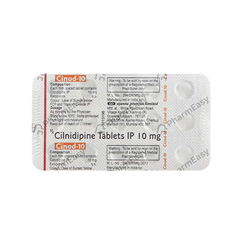 Cinod 10mg Strip Of 15 Tablets