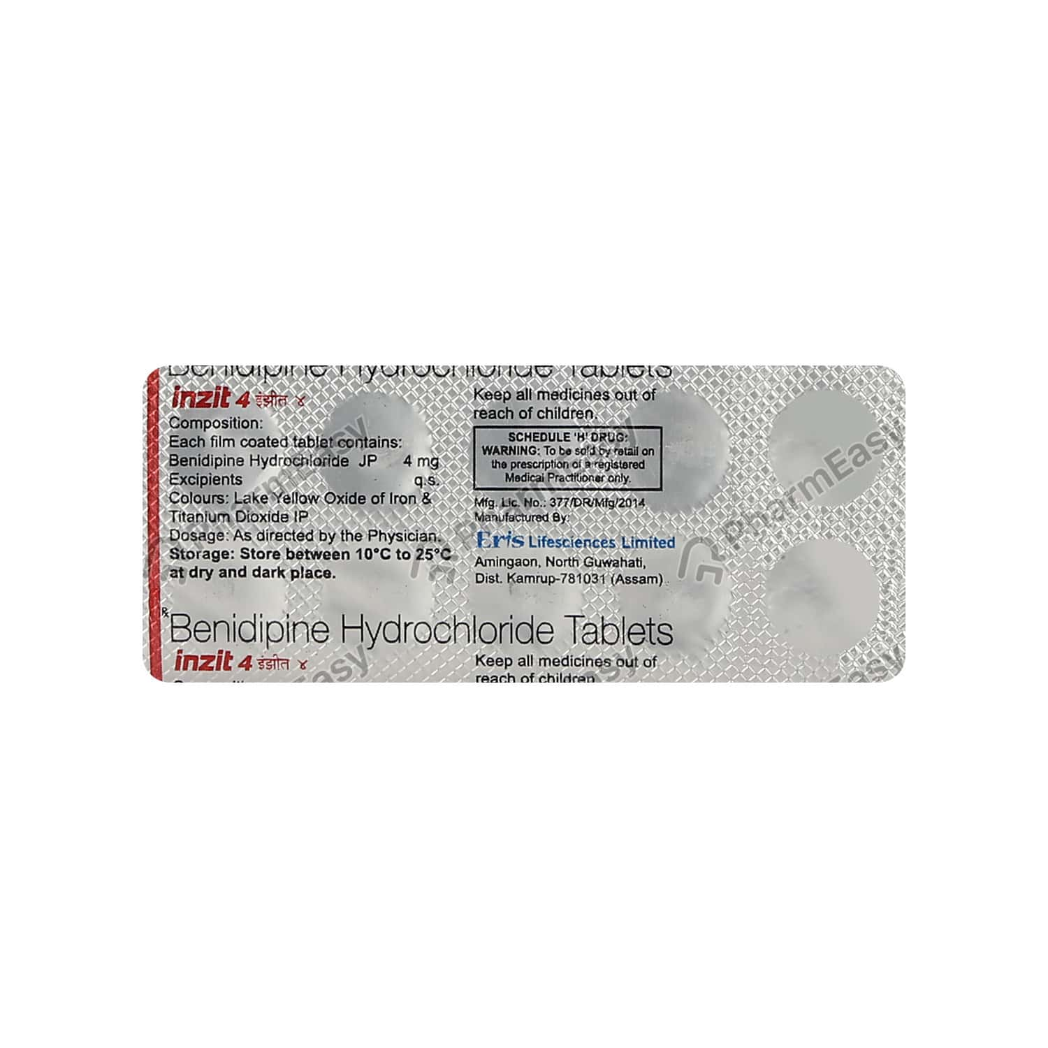 Inzit 4mg Strip Of 10 Tablets