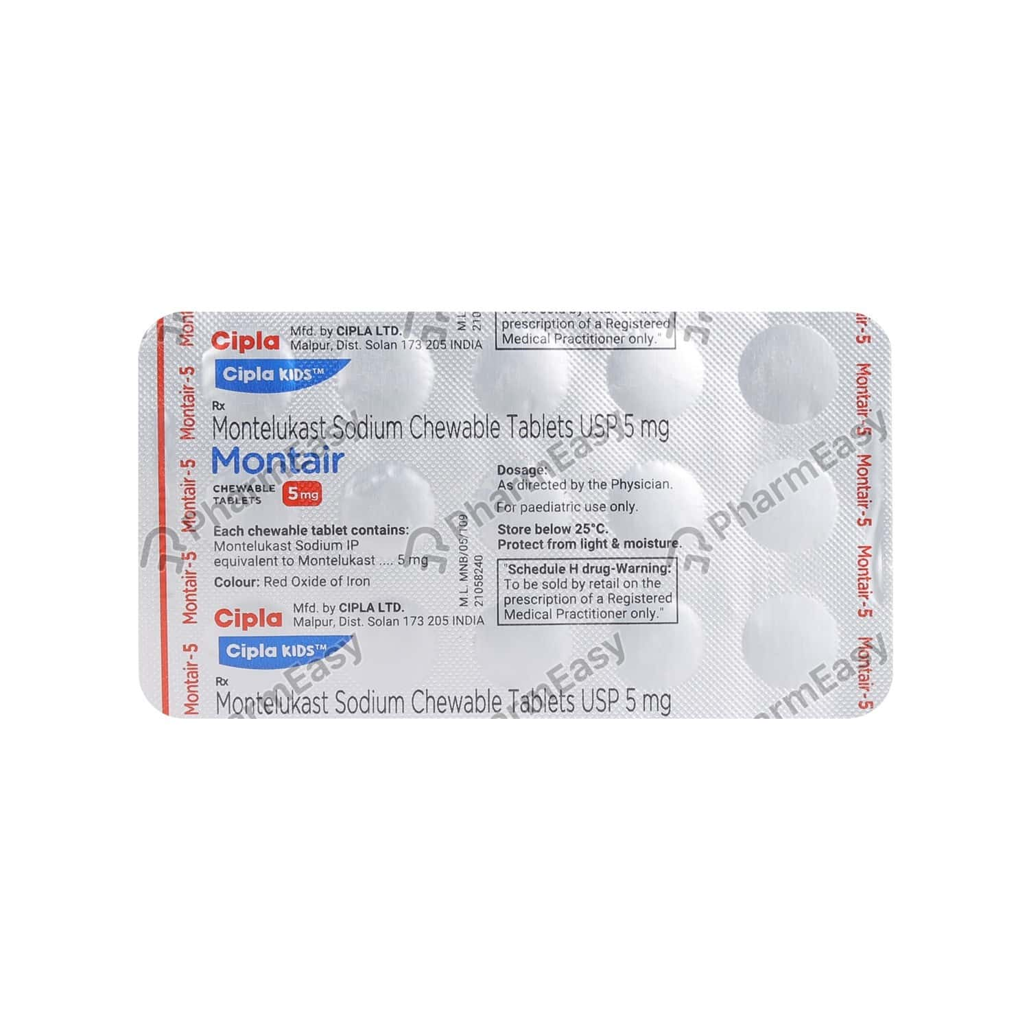 Montair 5mg Strip Of 15 Chewable Tablets