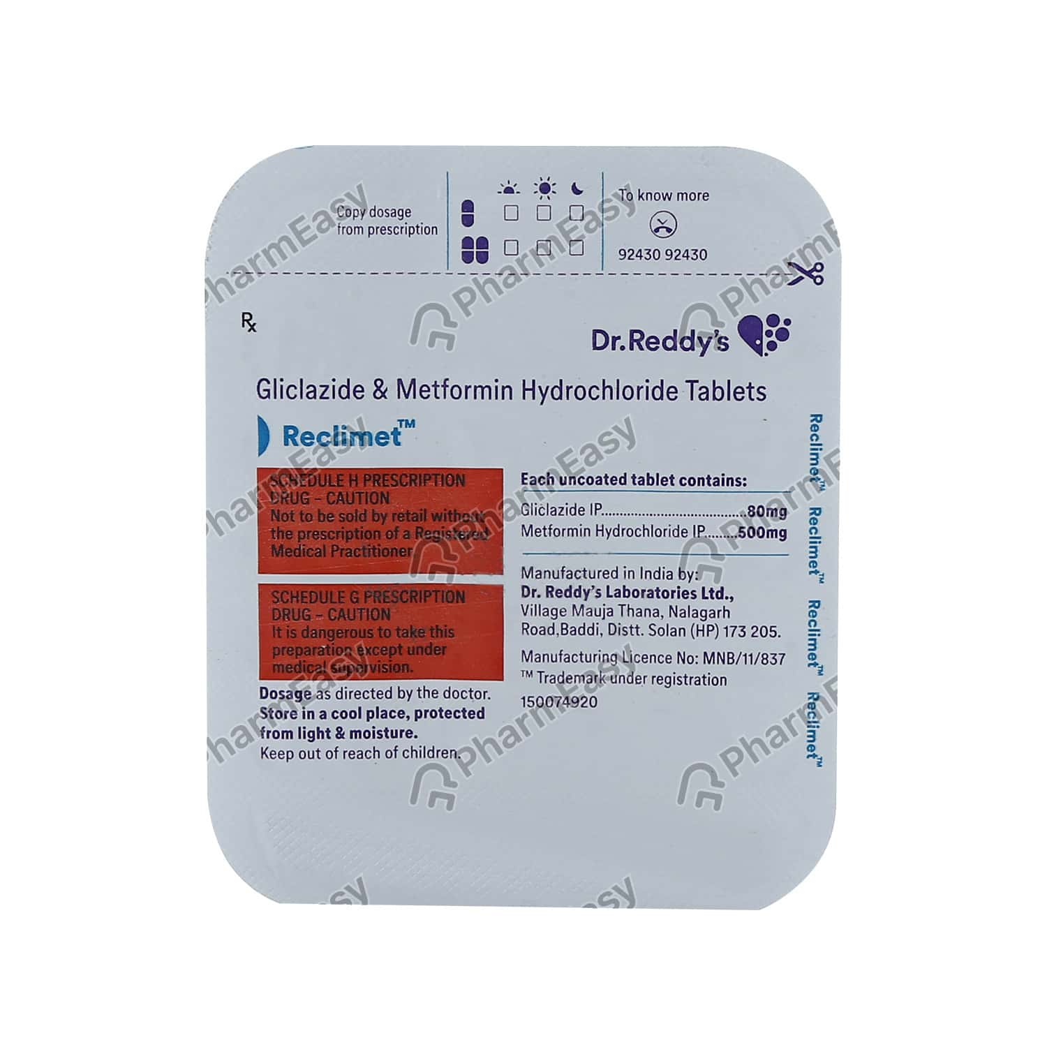 Reclimet Strip Of 14 Tablets