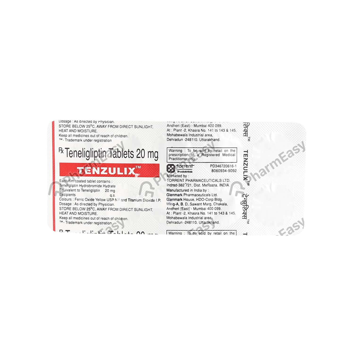 Tenzulix 20mg Strip Of 10 Tablets