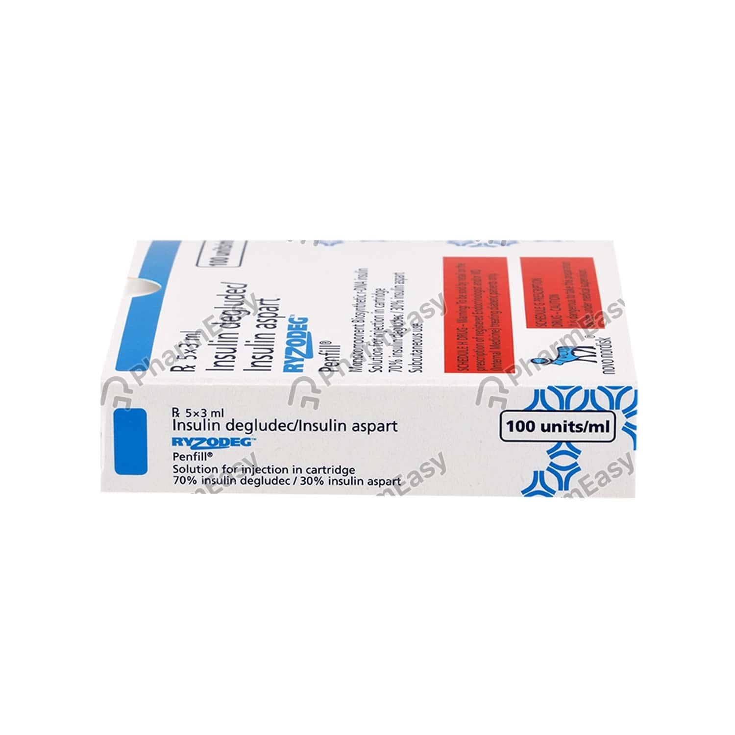 Ryzodeg Penfill 100iu Injection 3ml