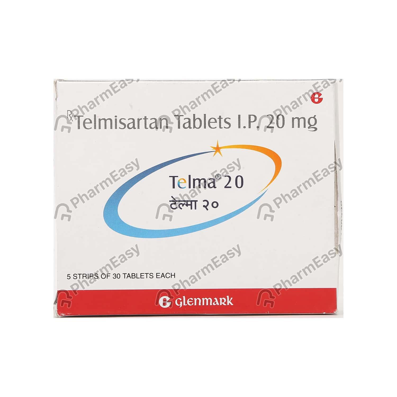 Telma 20mg Strip Of 30 Tablets