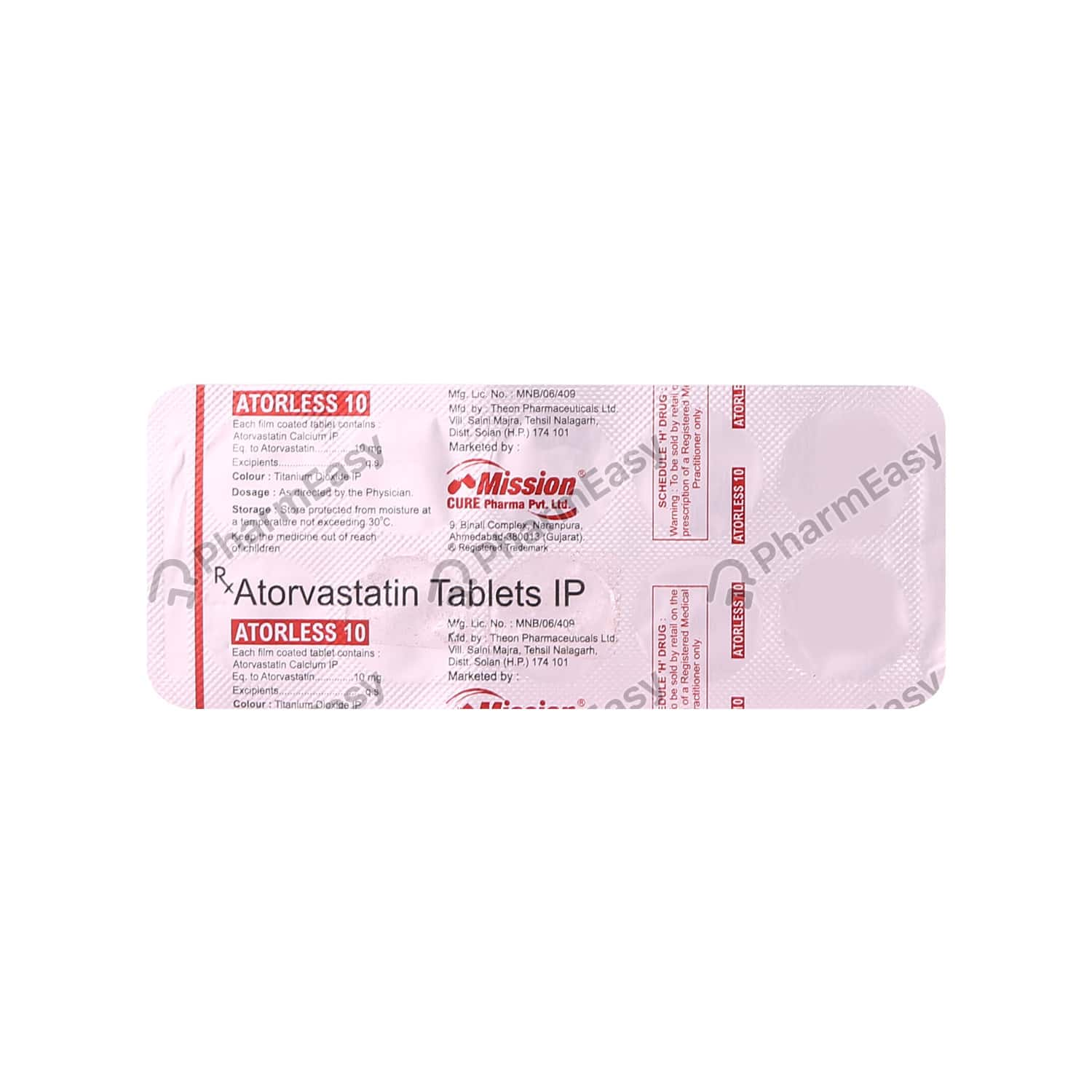 Atorless 10mg Strip Of 10 Tablets