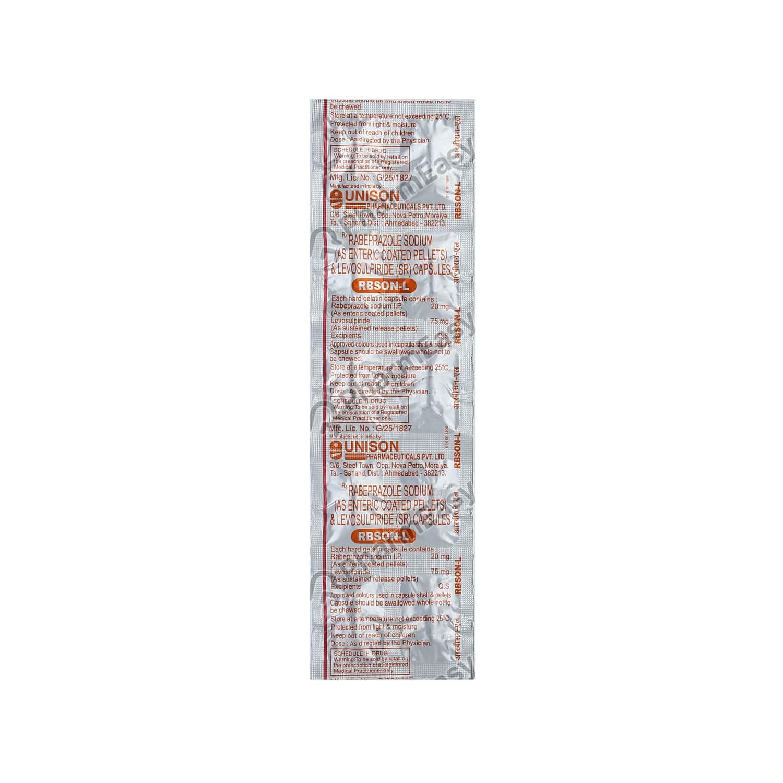 Rbson L Strip Of 10 Capsules