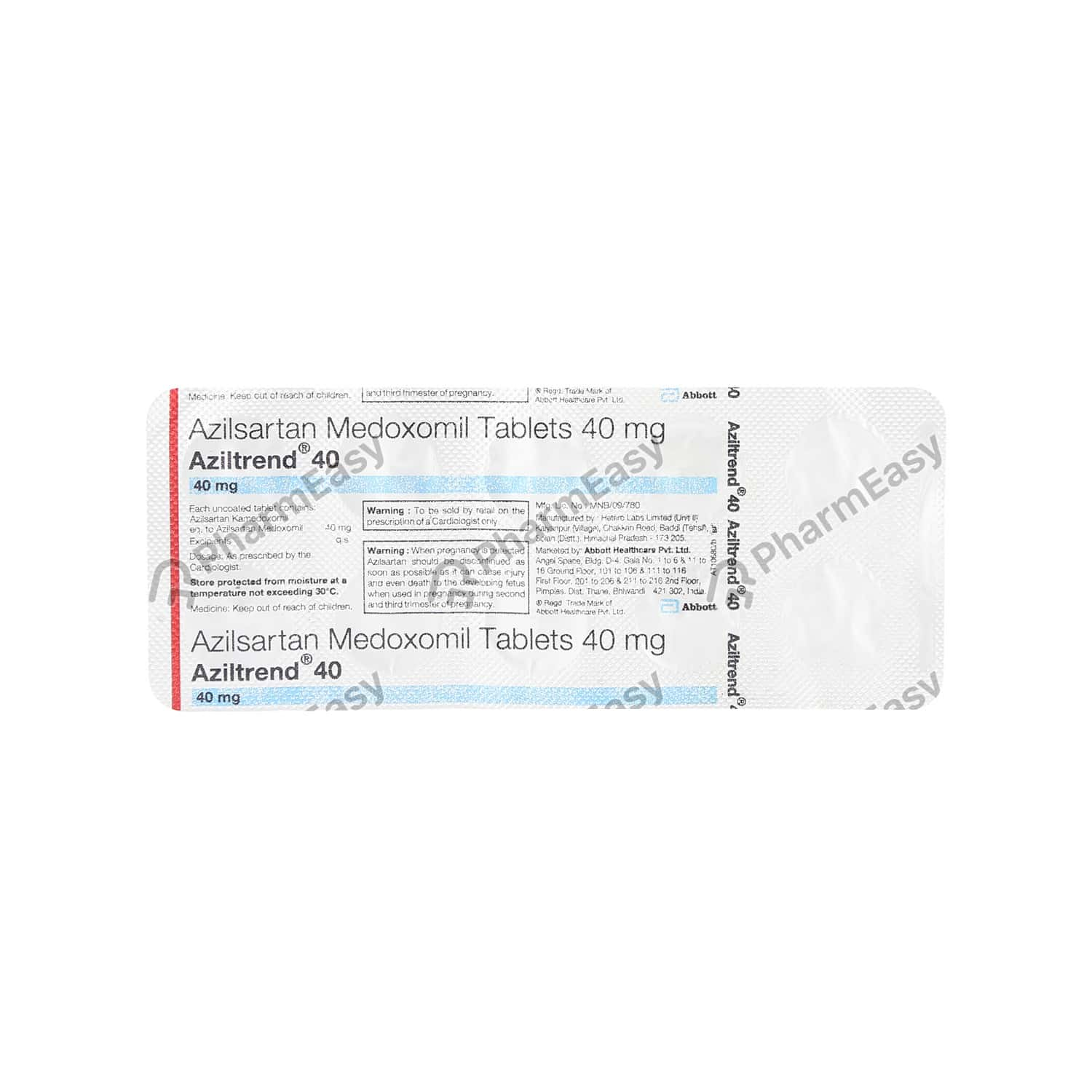 Aziltrend 40 Strip Of 10 Tablets