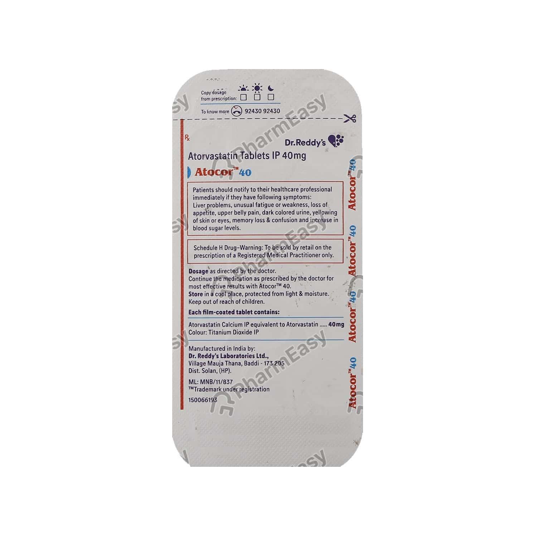 Atocor 40mg Strip Of 14 Tablets