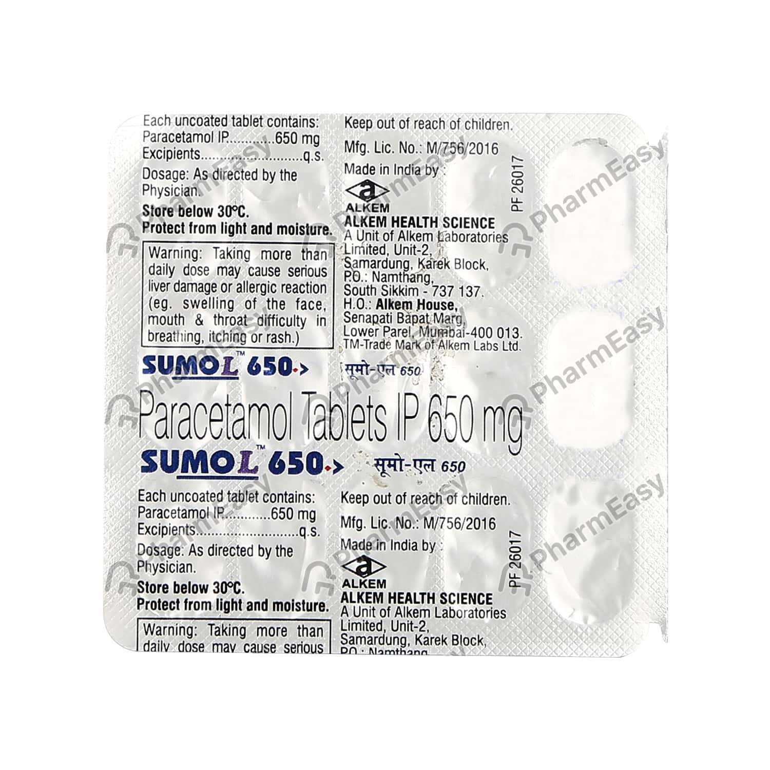 Sumo L 650mg Strip Of 15 Tablets