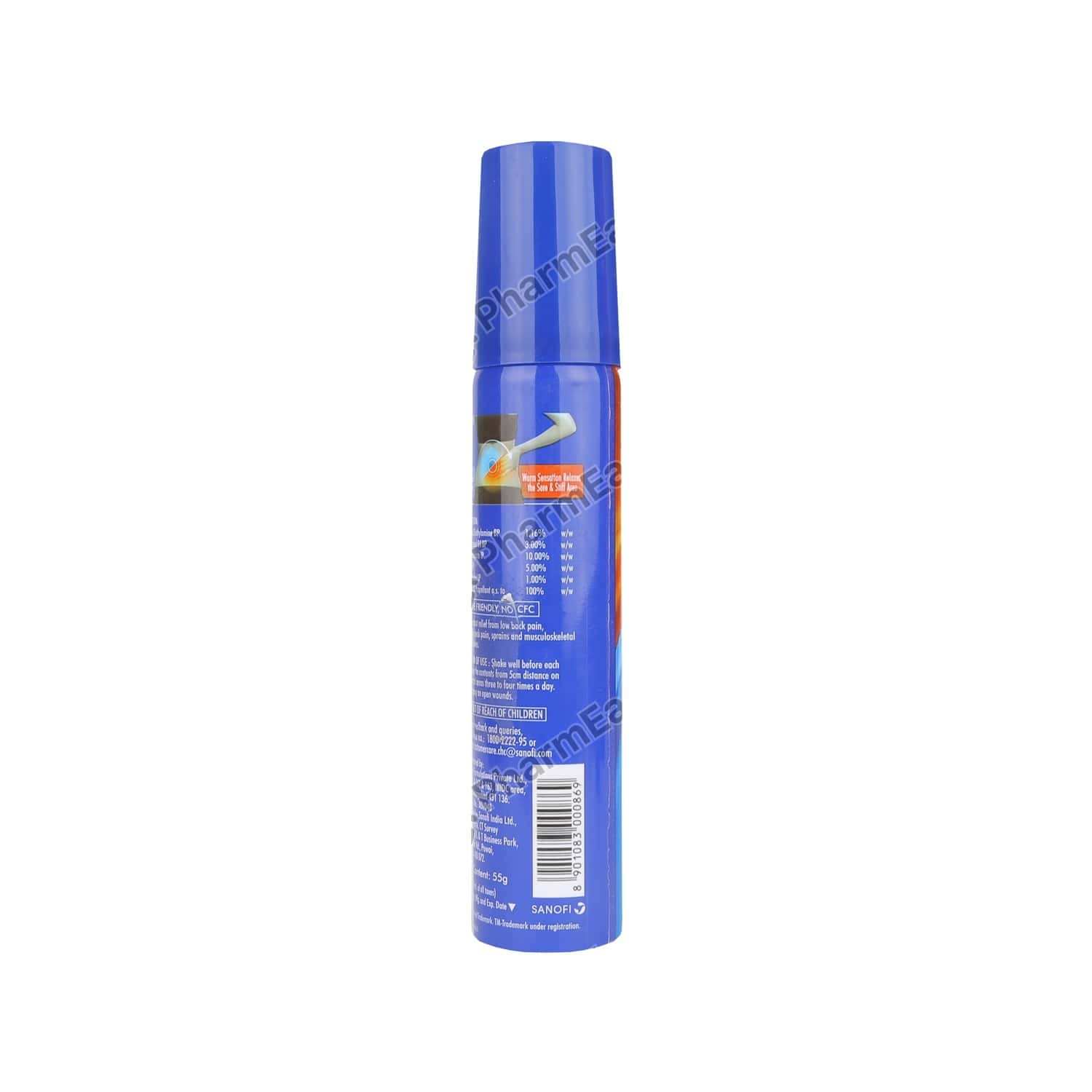Combiflam Icyhot Fast Pain Relief Spray - 55 Gms