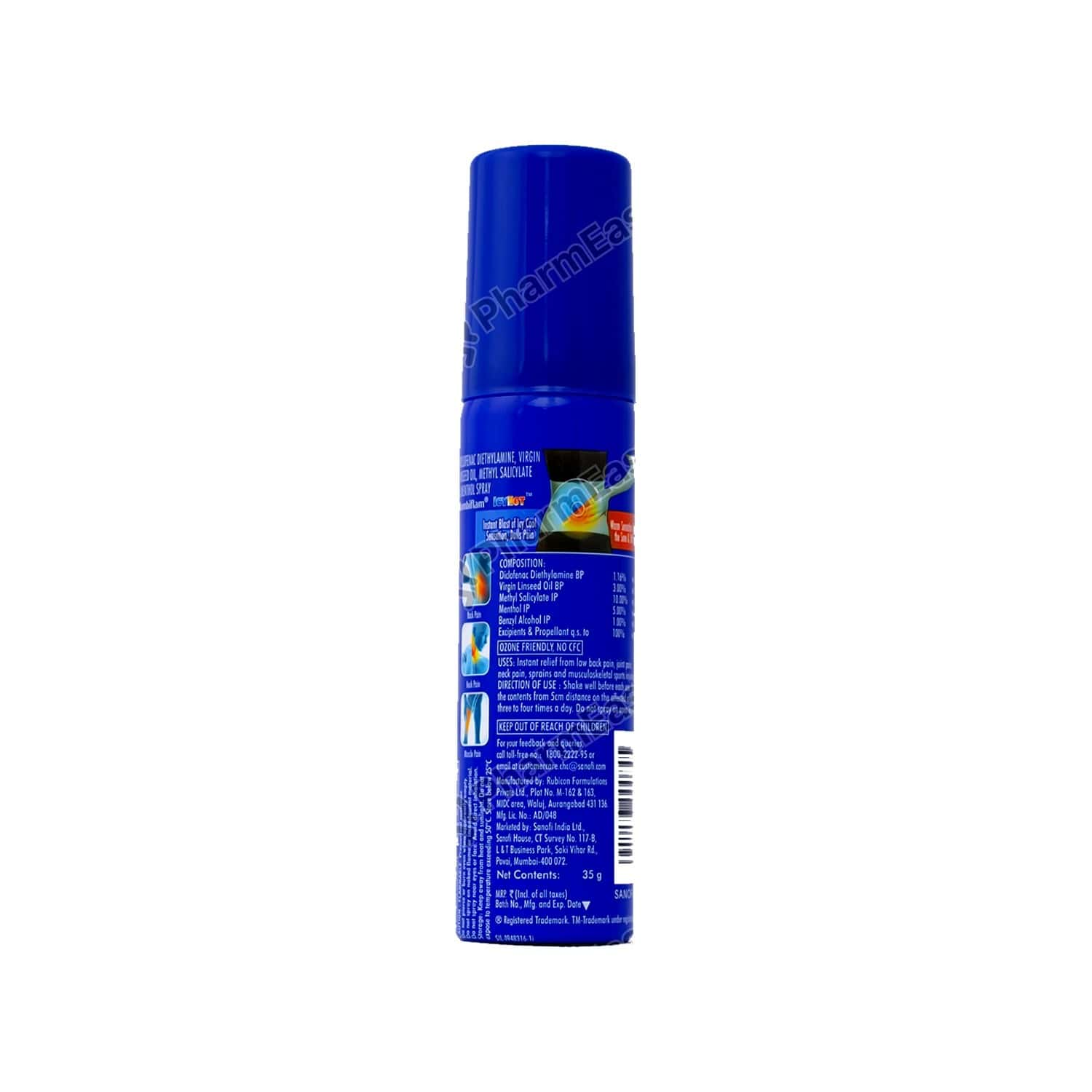 Combiflam Icyhot Fast Pain Relief Spray - 35 Gms