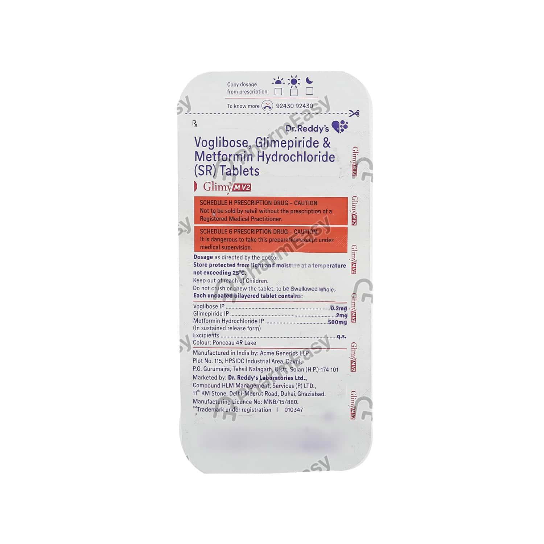 Glimy Mv 2mg Strip Of 10 Tablets