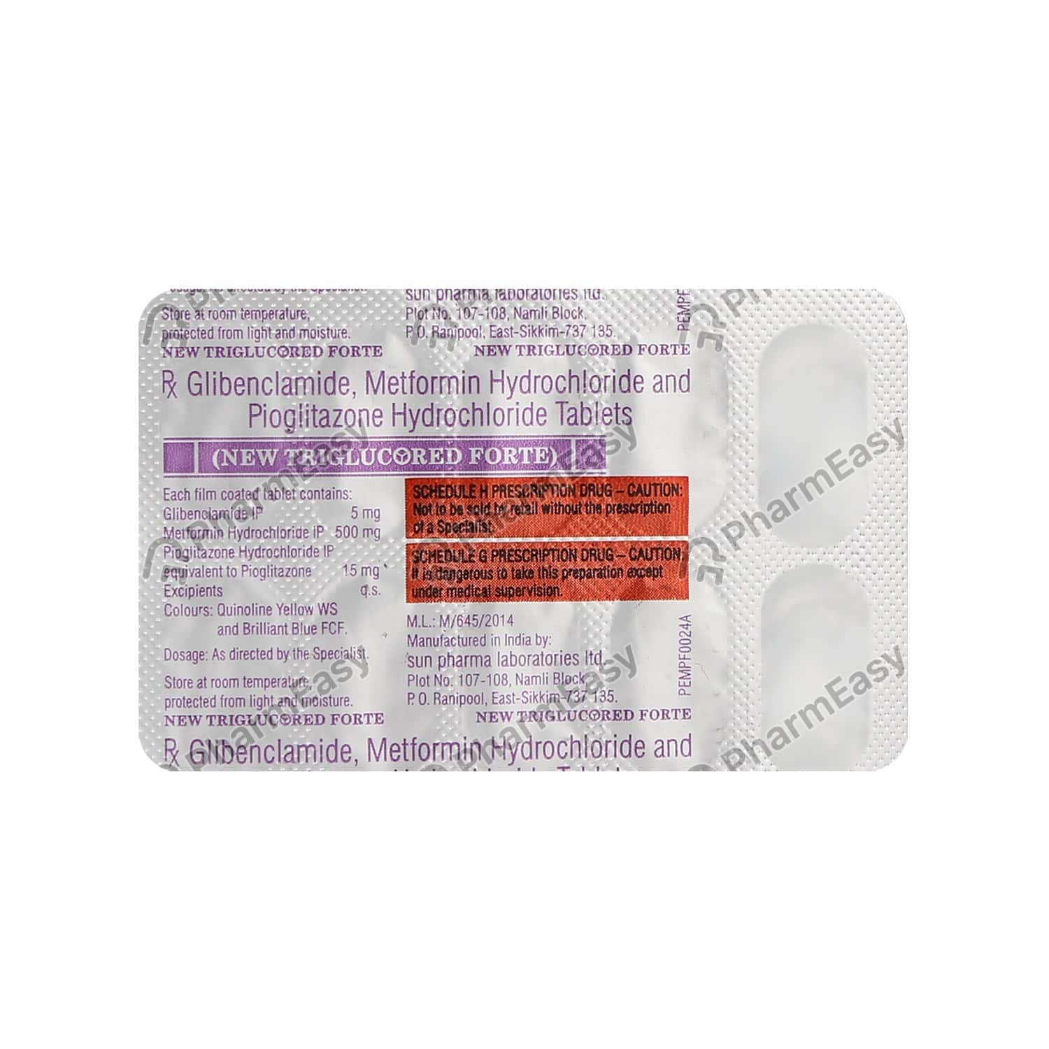 New Triglucored Forte Strip Of 10 Tablets