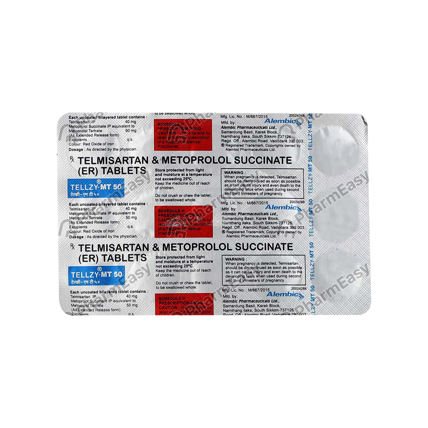 Tellzy Mt 50mg Strip Of 15 Tablets