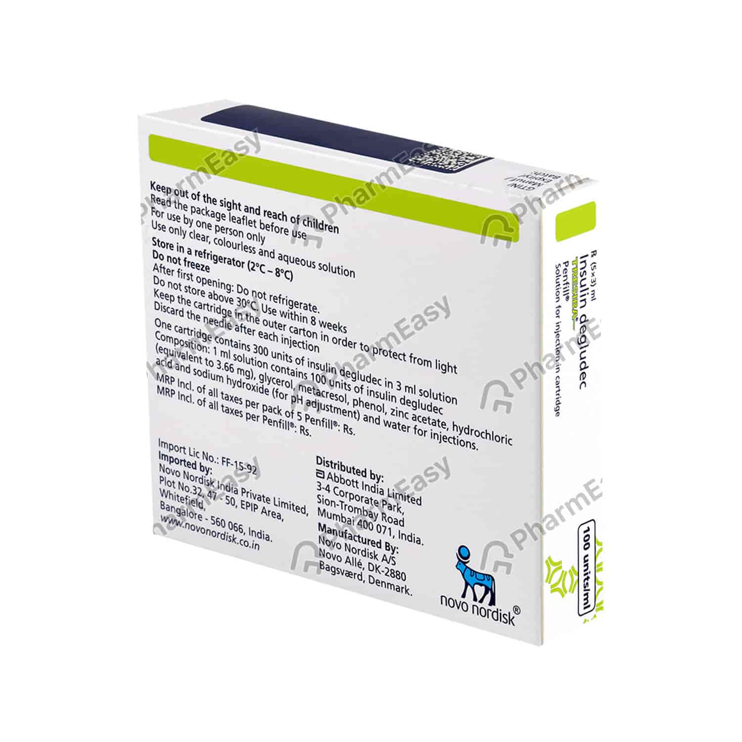 Tresiba 100iu Penfill 3ml Uses Side Effects Dosage