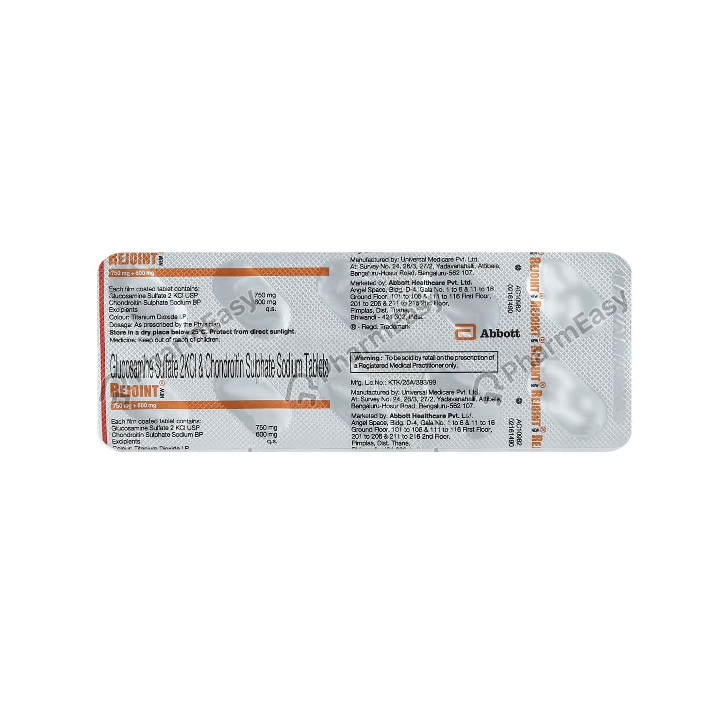Rejoint New 750/600mg Strip Of 10 Tablets