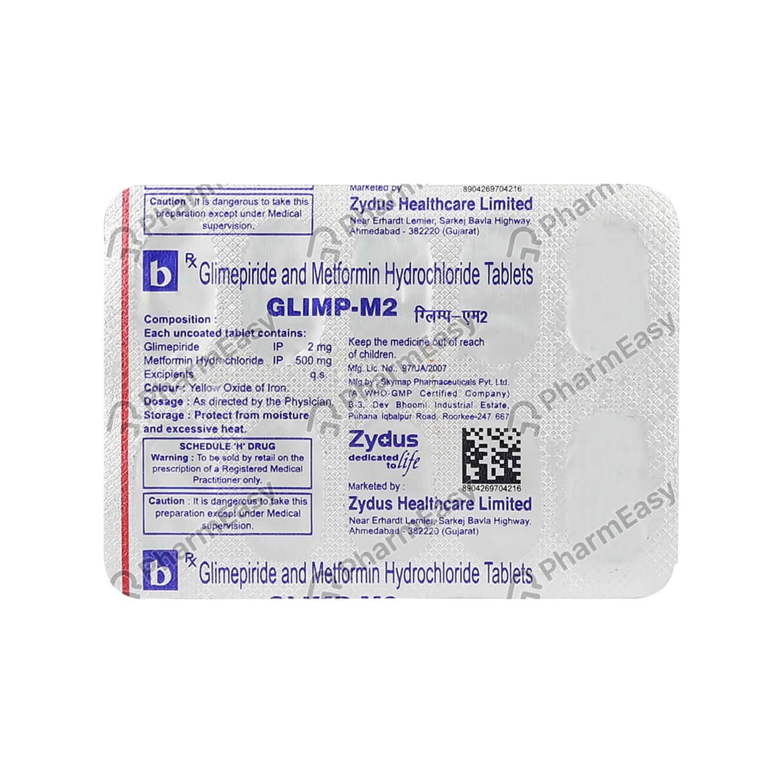 Glimp M 2mg Strip Of 10 Tablets