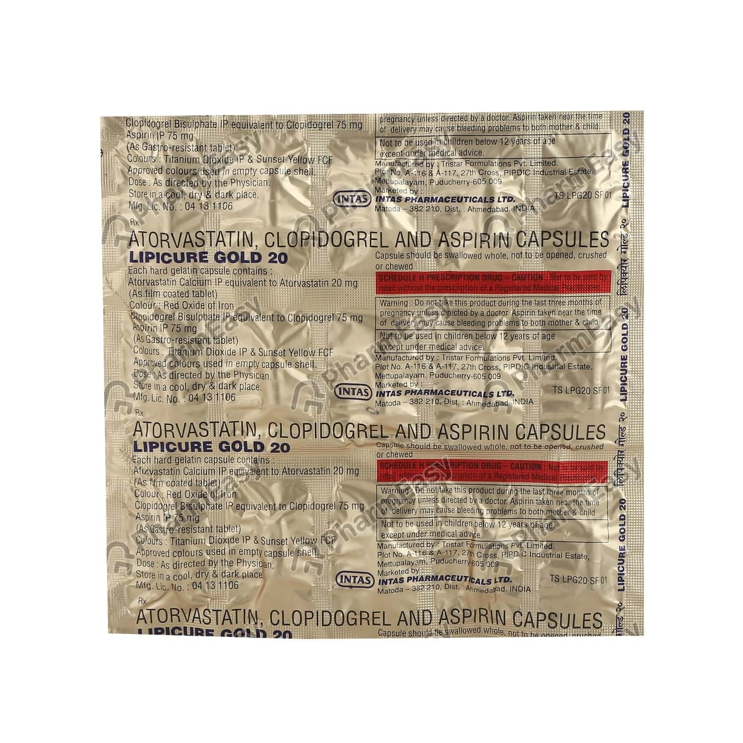 Lipicure Gold 20mg Strip Of 15 Capsules