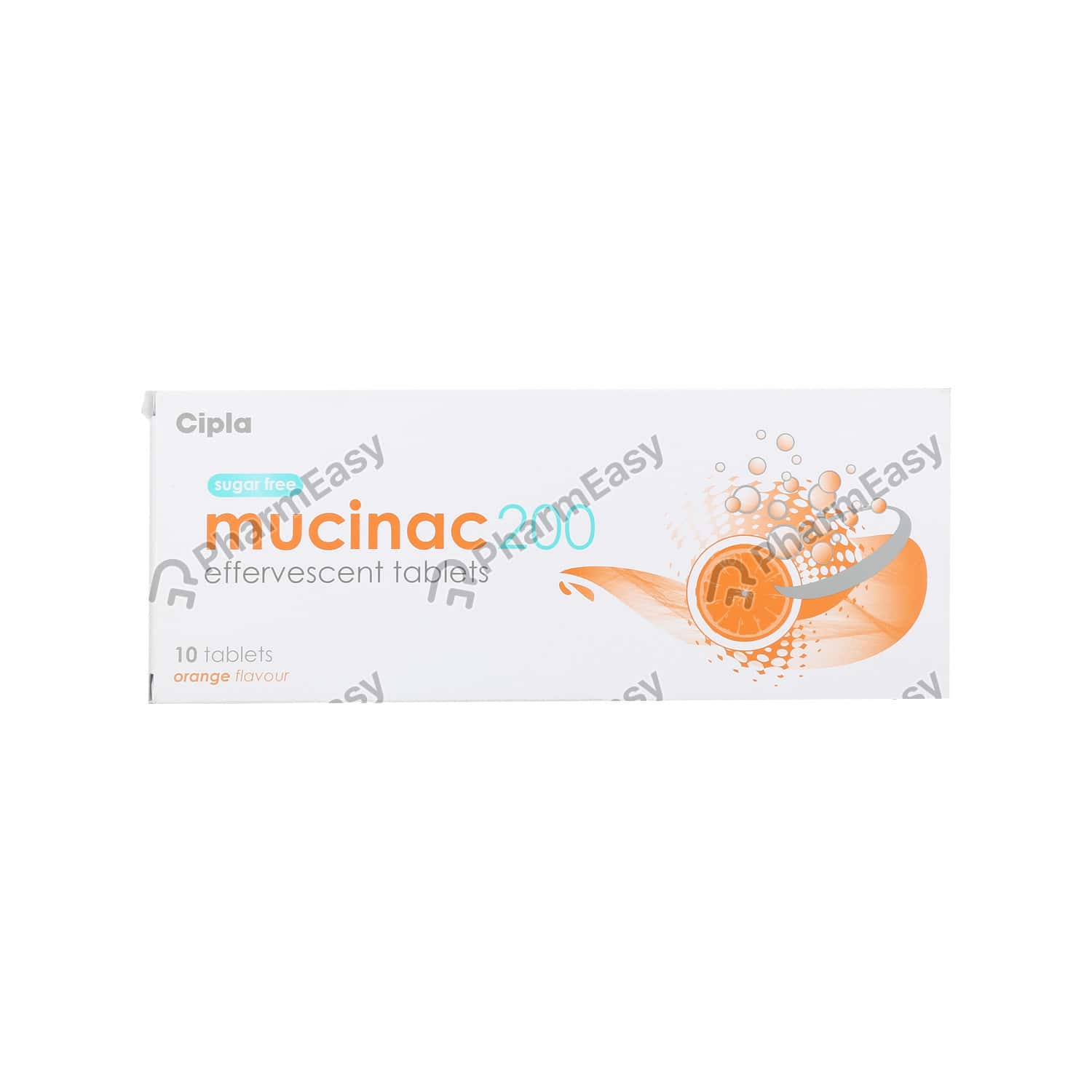 Mucinac 200mg Orange Flav Sf Tab 10's