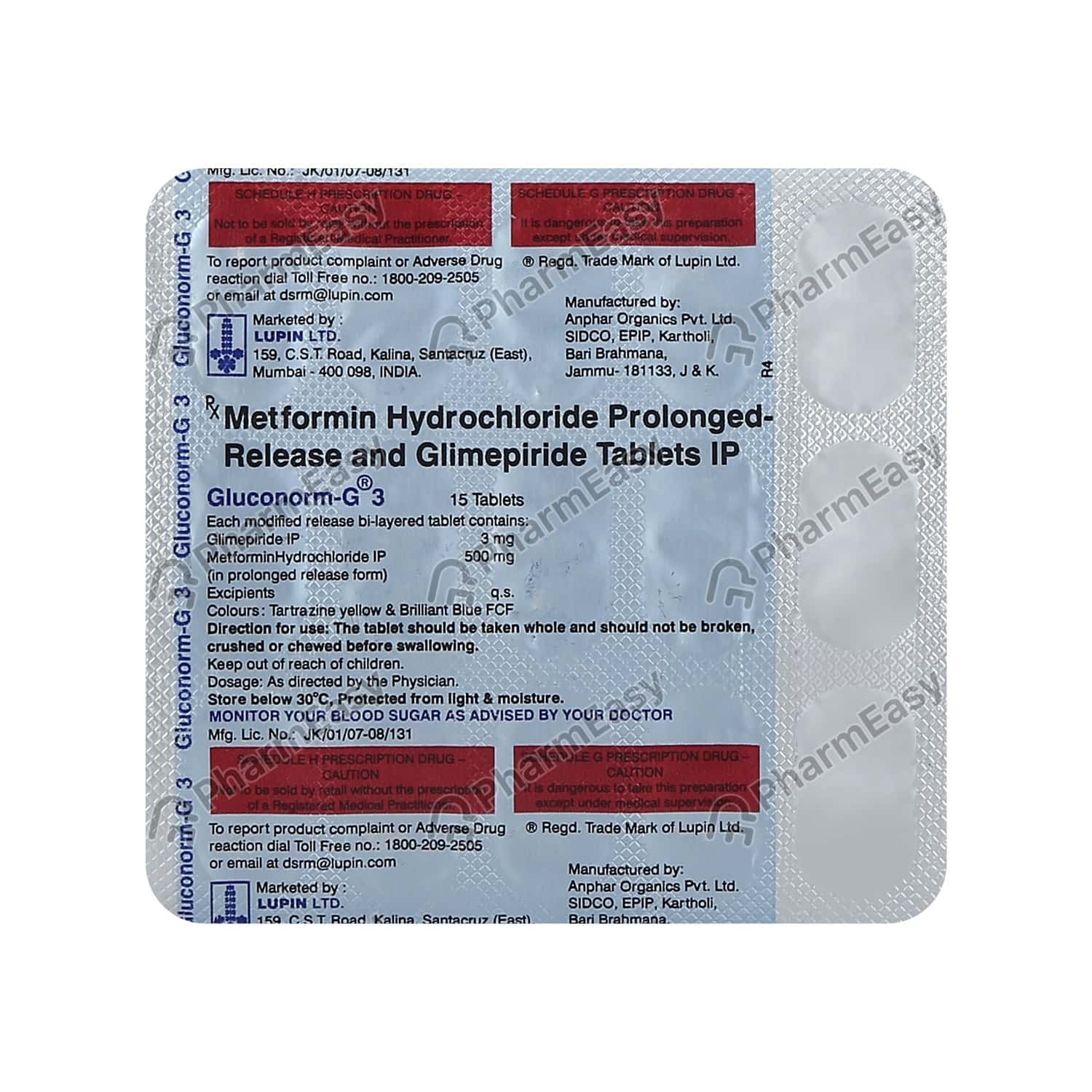 Gluconorm G 3mg Tablet 15's