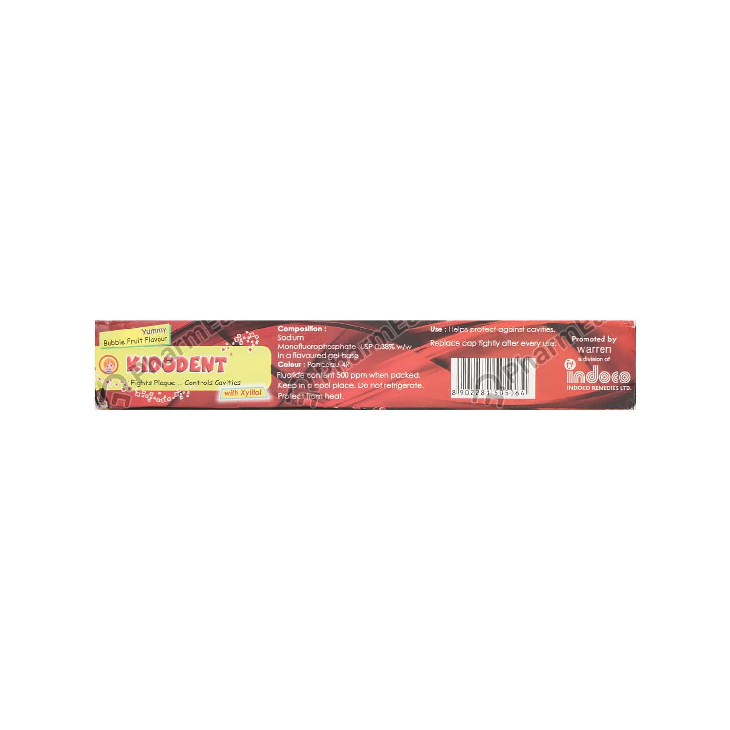 Kidodent 0.38% Bubble Fruit Paste 75gm