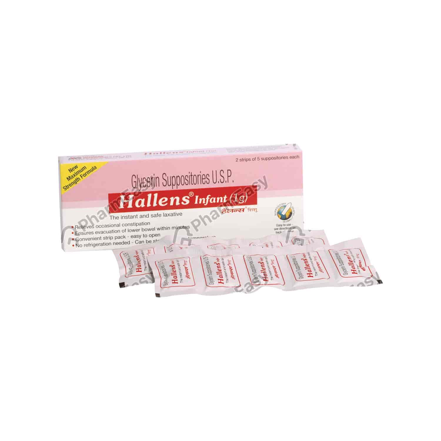 Hallens Infant Suppositories 1gm 5's