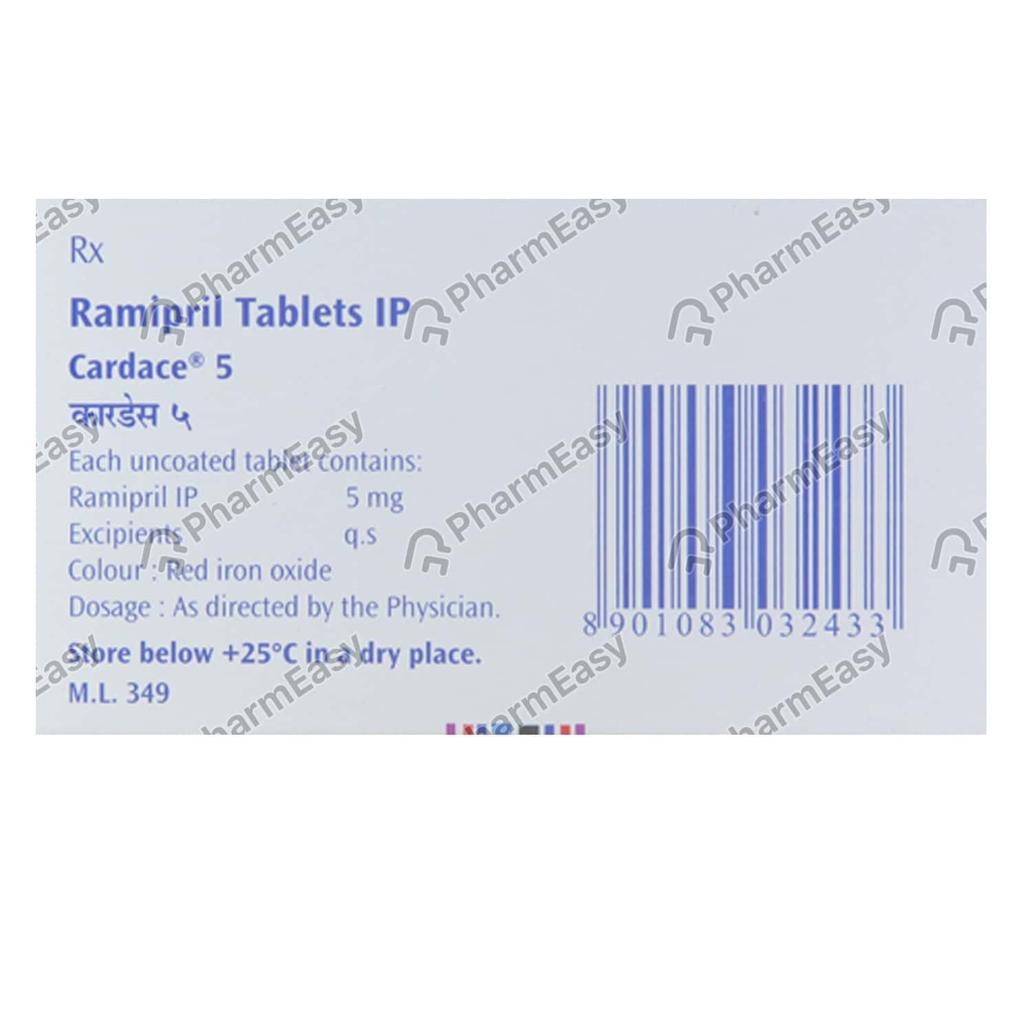 Cardace H 5mg Strip Of 15 Tablets