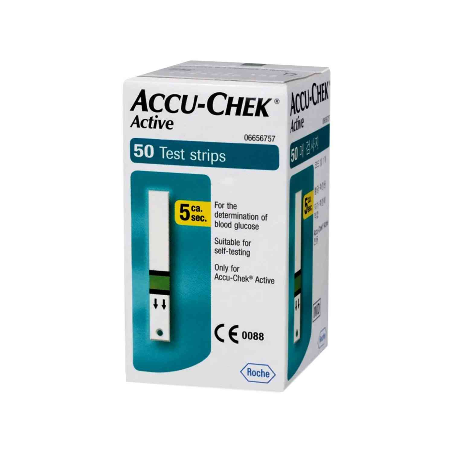 Accu-chek Active Glucometer Test Strips Box Of 50
