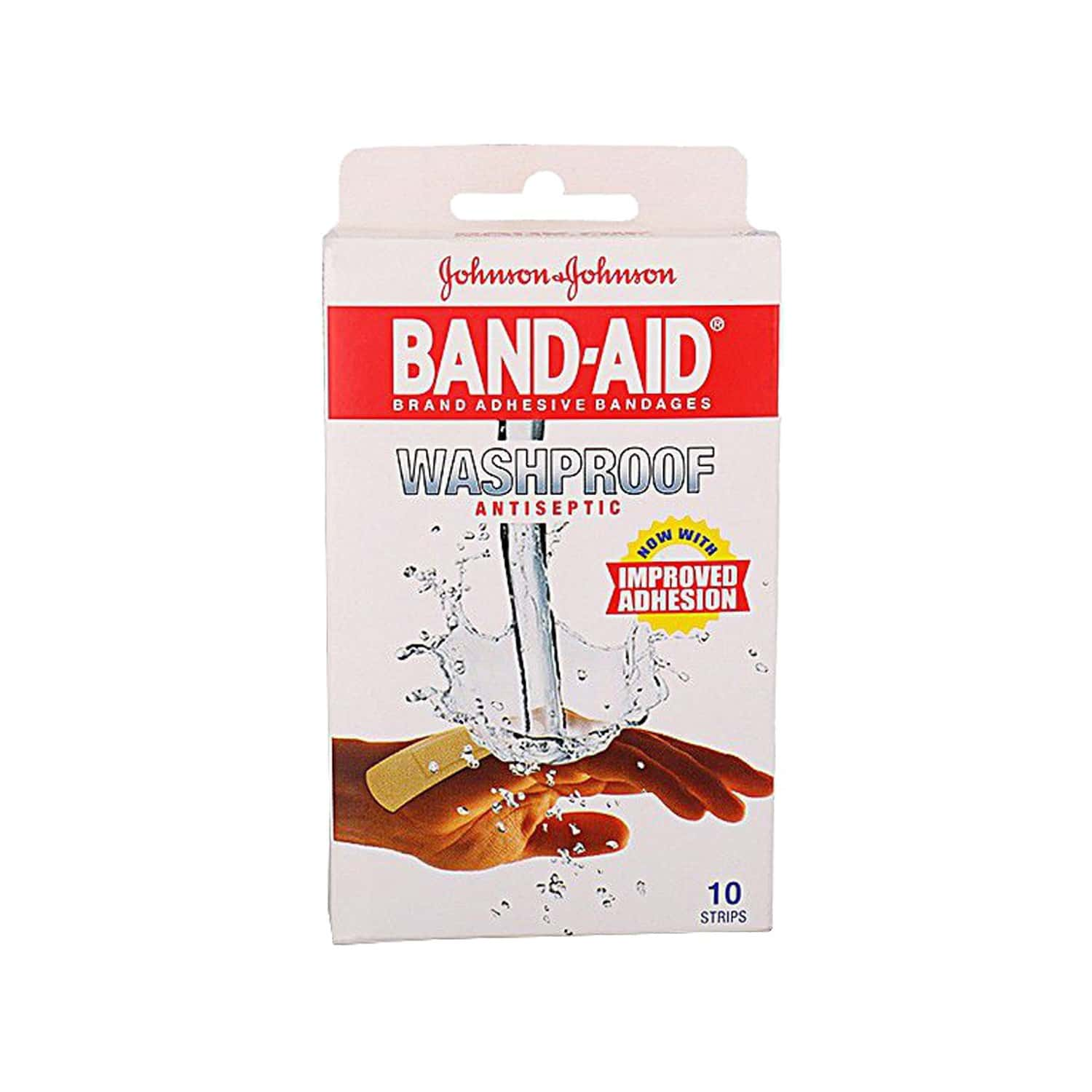Band-aid Wash Proof 10 Strips, Get 2 Strips Free