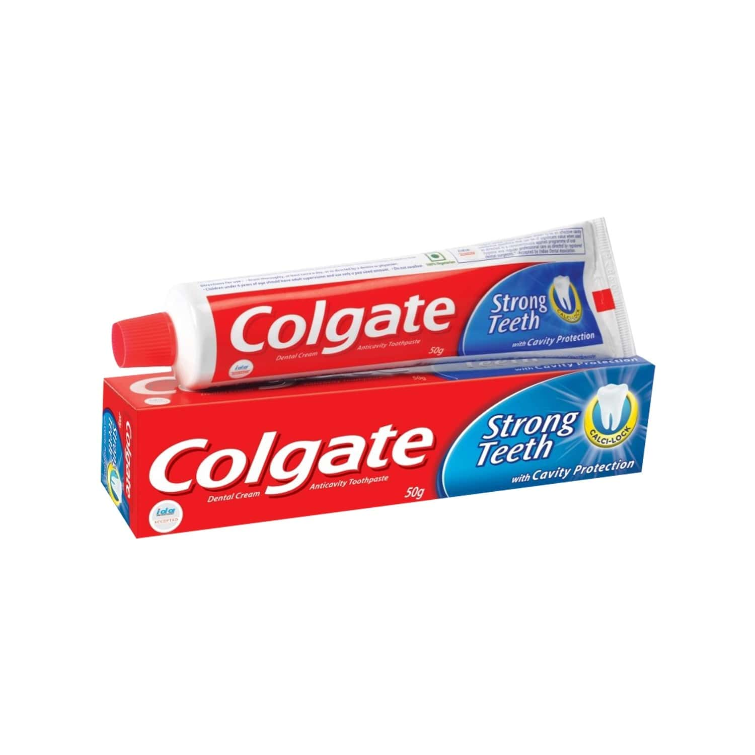 Colgate Toothpaste - Strong Teeth Dental Cream - 54 Gm - Anti-cavity