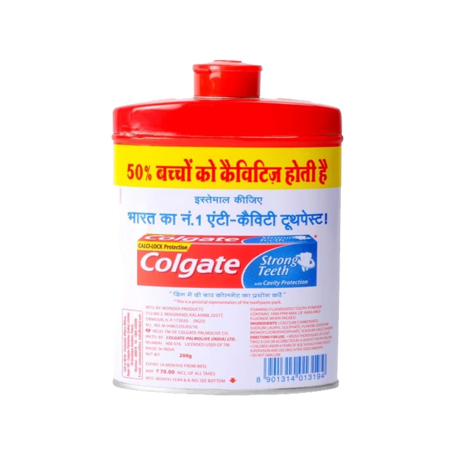 Colgate Toothpowder -with Calcium And Minerals - 200 G - Anti-cavity
