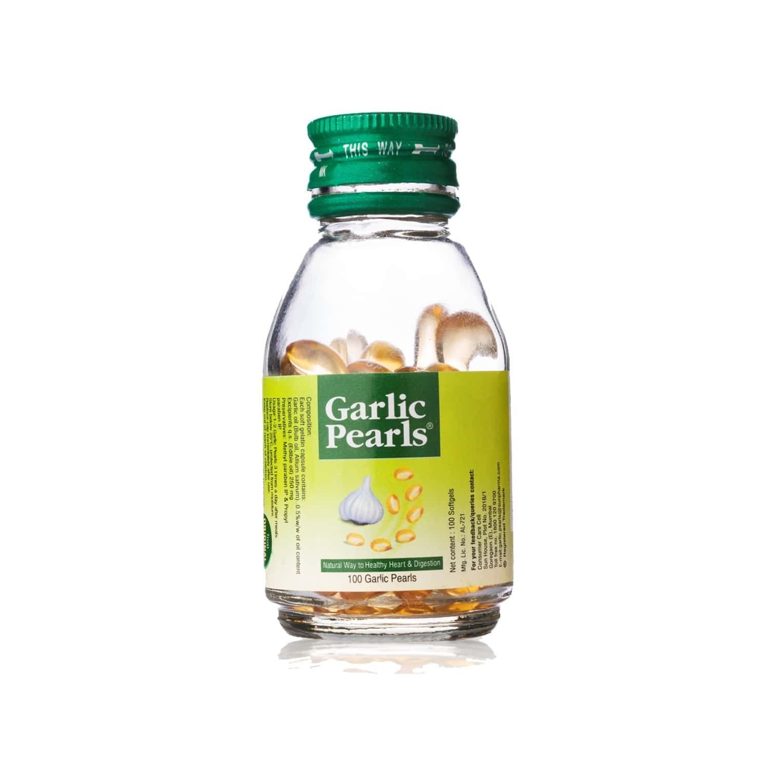 Garlic Pearls  Healthy Heart & Digestion Capsules  Bottle Of 100