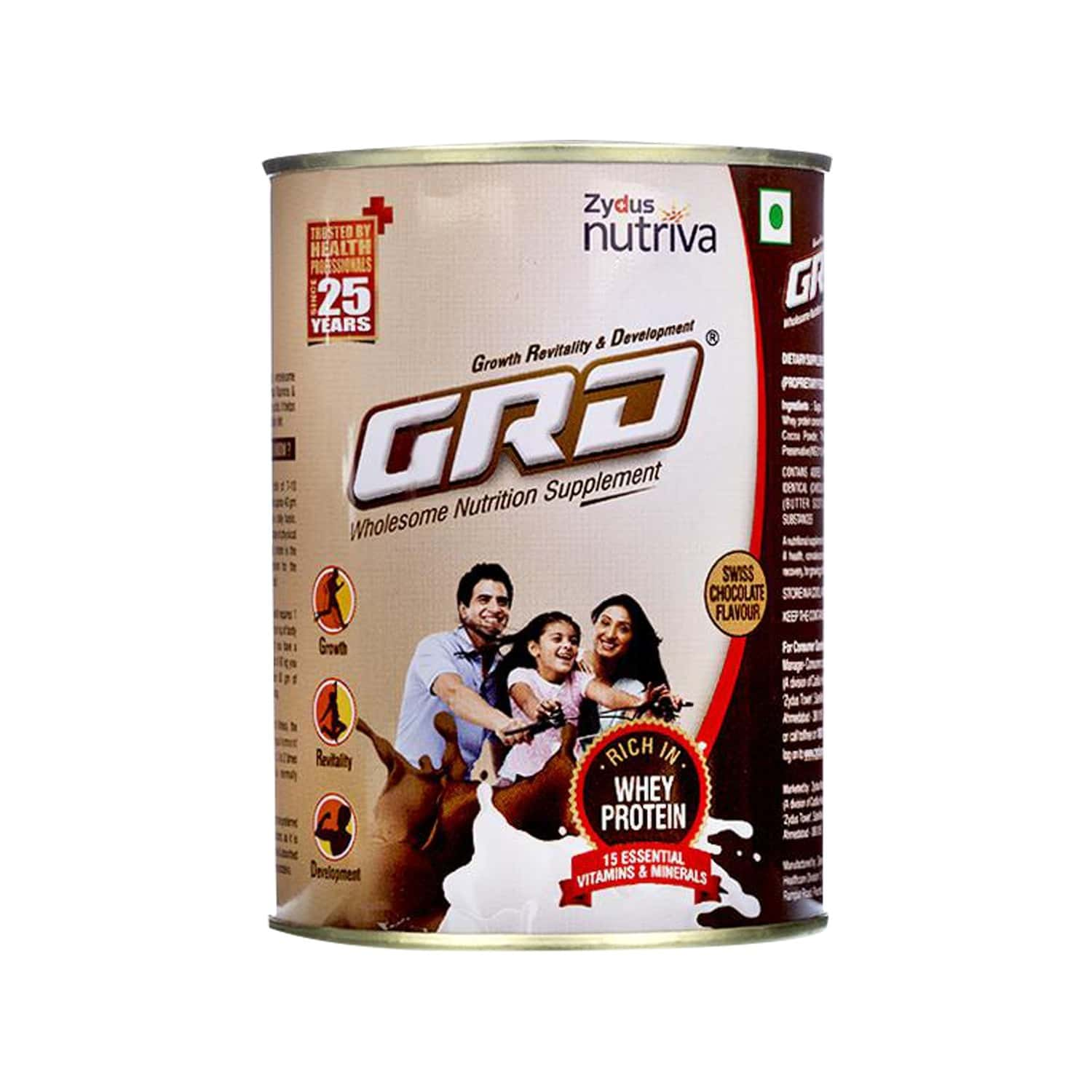 Grd Chocolate Whey Protein Tin Of 200 G