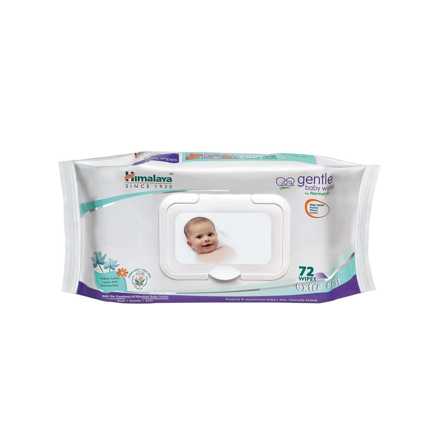 Himalaya Baby Wipes Packet Of 72 's