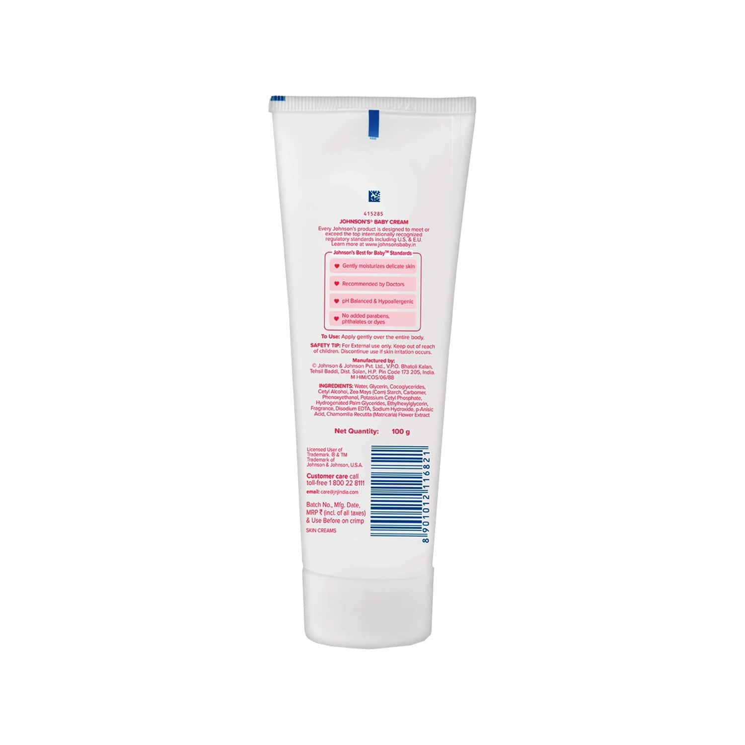 Johnson's Baby Cream Tube Of 100 G