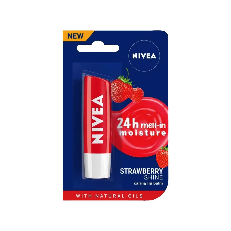Nivea Lip Care Strawberry Cream - 4.8 G