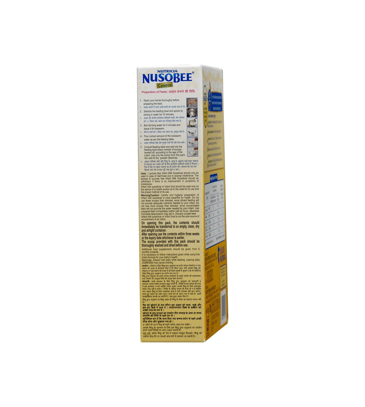 Nusobee Casein Baby Food Stage 1 Infant Formula Refill Of 200 G
