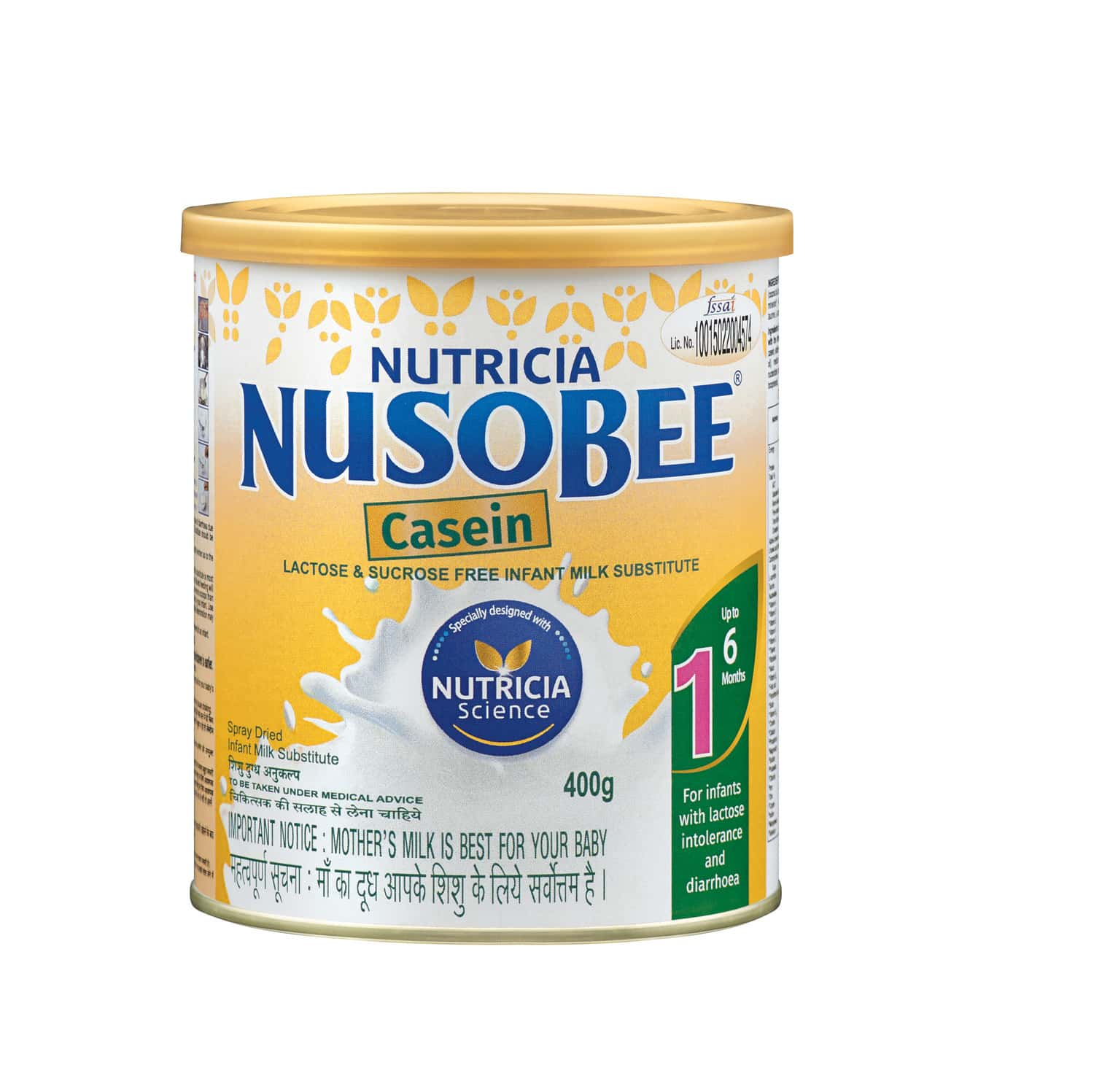 Nusobee Casein Baby Food Stage 1 Infant Formula Tin Of 400 G