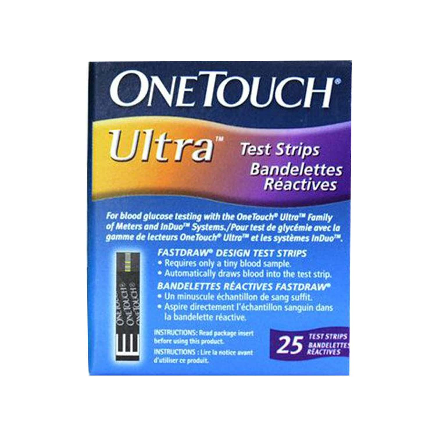 One Touch Ultra Glucometer Test Strips Box Of 25