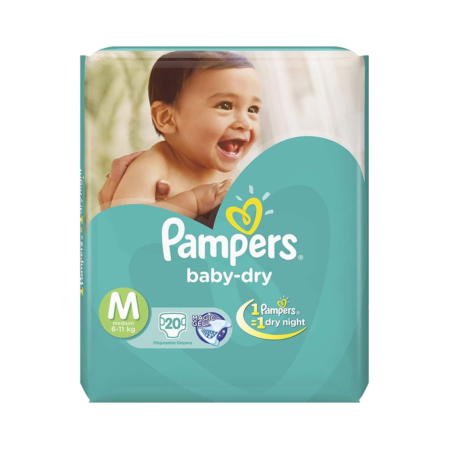 Pampers Baby Diapers Taped Medium Size 20 Pieces