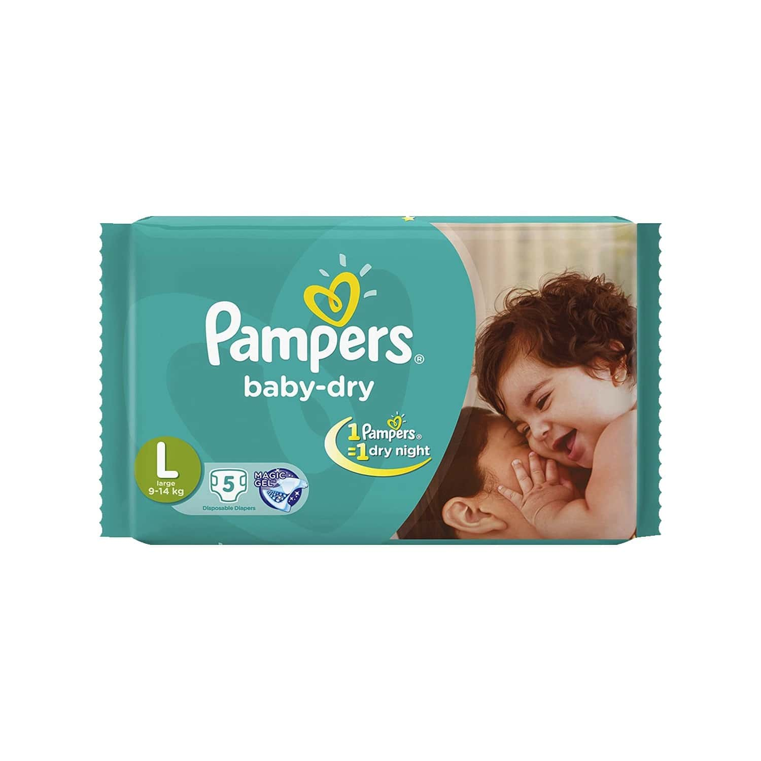 Pampers Baby Diaper Large 5`s