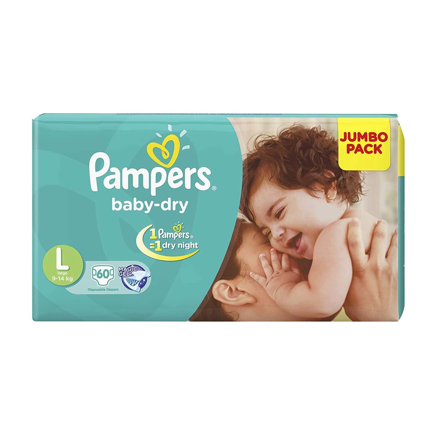 Pampers Baby Diapers Taped Large Size 60 Pieces