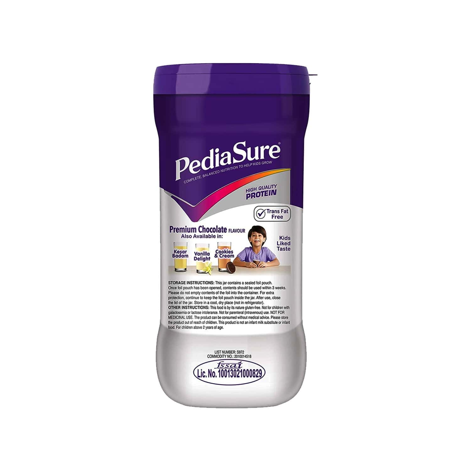 Pediasure Premium Chocolate Child Nutrition Drink Jar Of 400 G