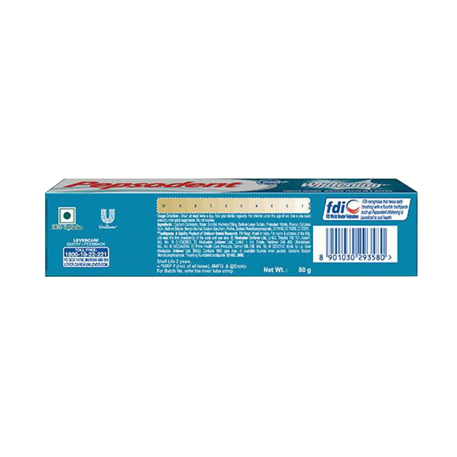Pepsodent Whitening Tooth Paste 80gm