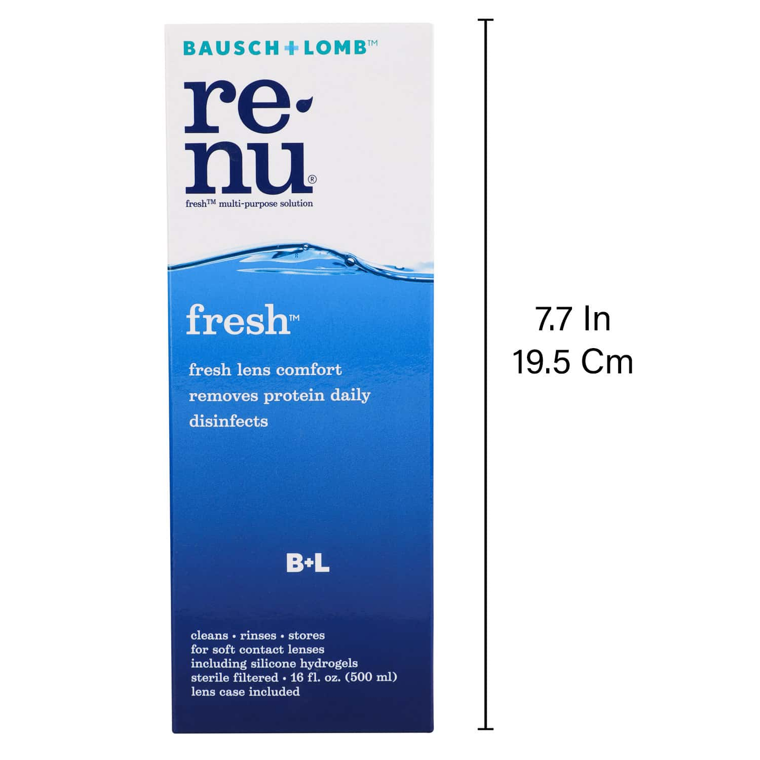 Bausch & Lomb Renu Fresh  Multi Purpose Solution  Bottle Of 500 Ml